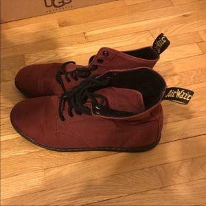 """Dr. Marten boots maroon """"alfie"""" size 11"""